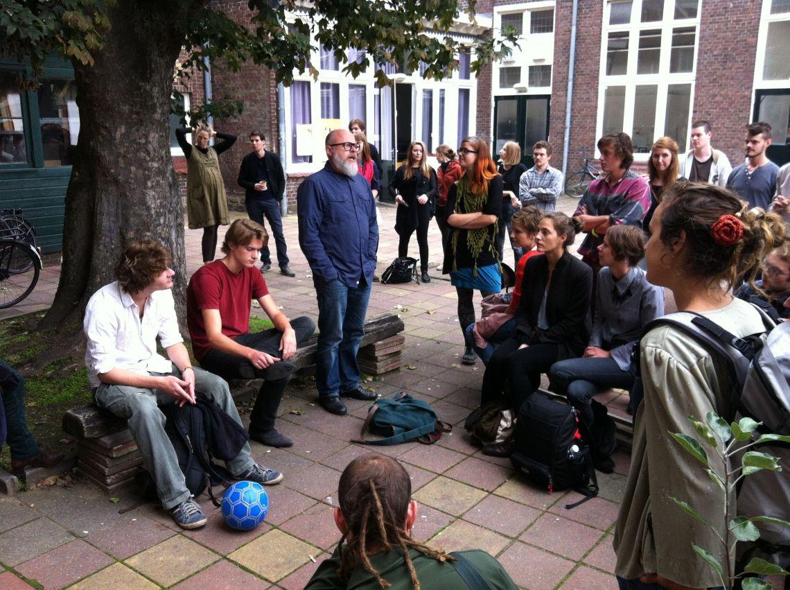 Academiebezoek Maastricht | alle deelnemende studenten aan het Leerling/Meesterproject 2013-2014