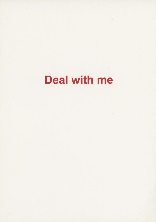 Deal with me | performance with card | Karin van Pinxteren | 2006