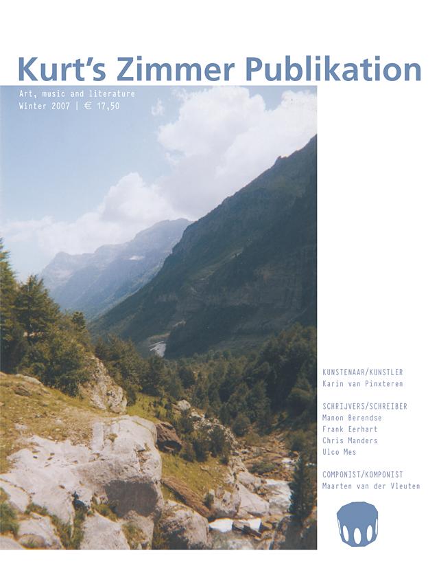 Kurt's Zimmer Publikation | Karin van Pinxteren | cover