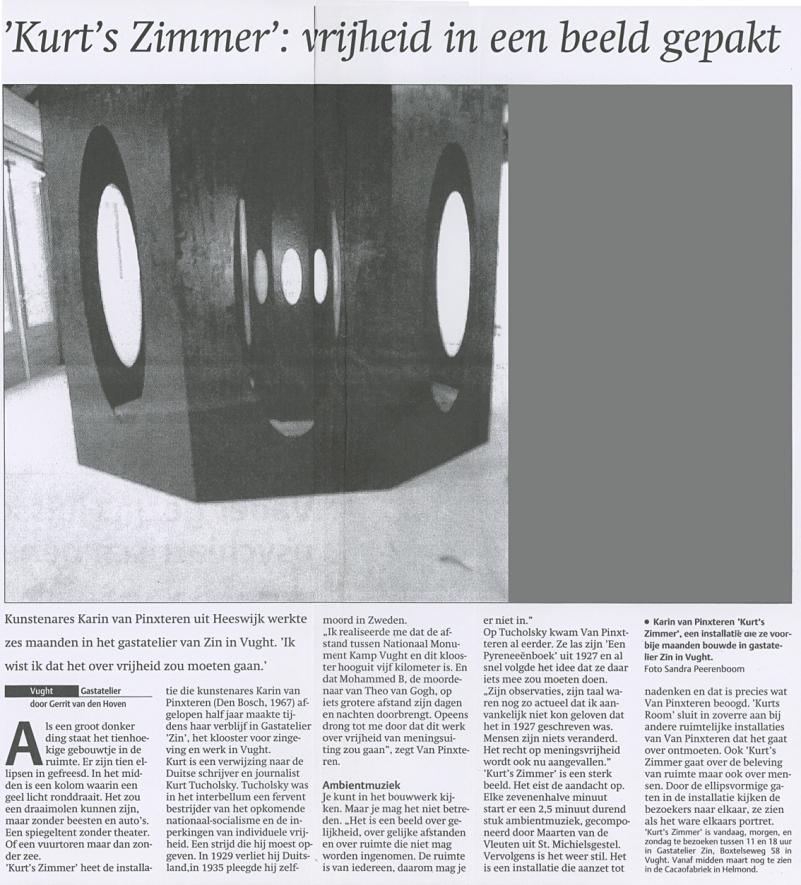 Karin van Pinxteren | recensie Kurt's Zimmer | Gerrit vd Hoven | 23022006