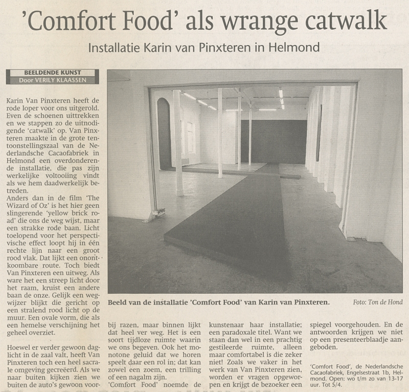 Karin van Pinxteren  recensie Comfort Food   24042004