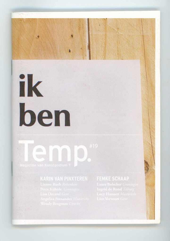 Temp. #19 Minizine Kunstpodium T
