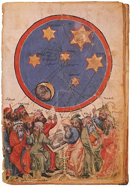 15th century book illustration scientists