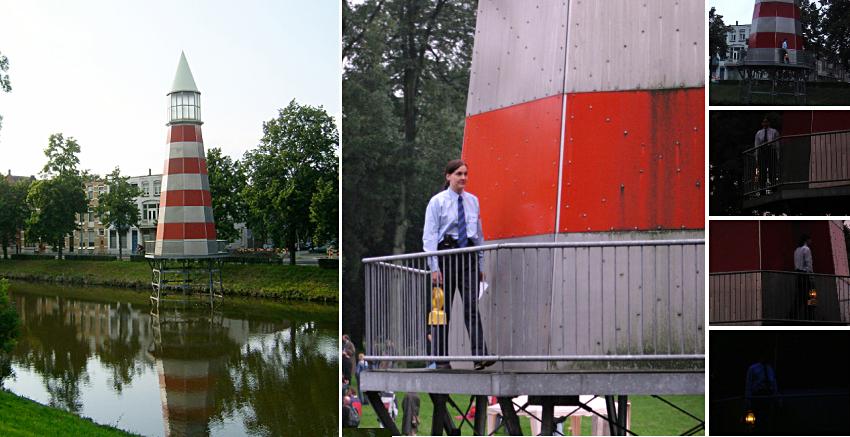 Aldo's Commissionaire - Aldo Rossi lighthouse - performance - Karin van Pinxteren
