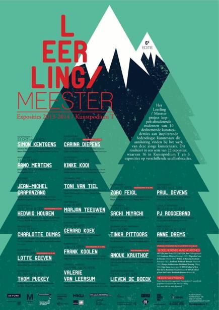 affiche Leerling/Meester project 2013-2014