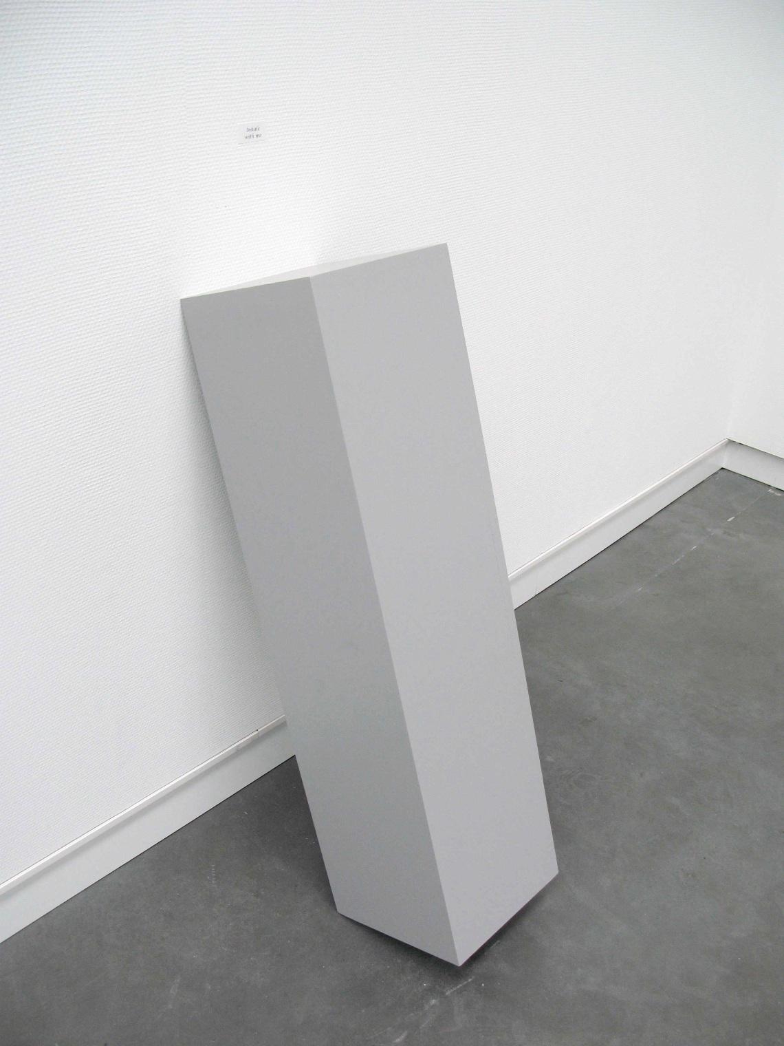Inhale with me | Karin van Pinxteren | pedestal + stamp | Museum De Pont
