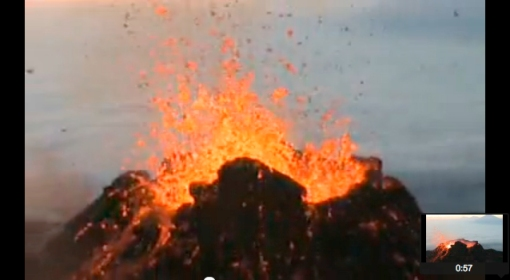 Eruption Pacaya vulcano Guatemala