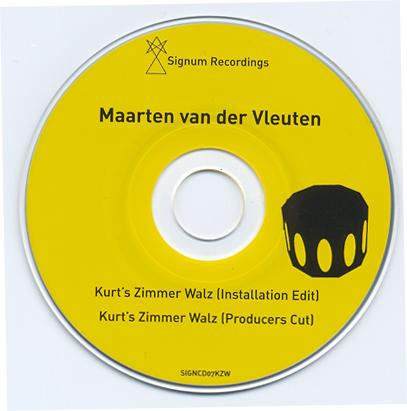 Kurt's Zimmer Waltz | Maarten van der Vleuten | mini CD
