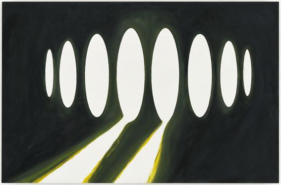 'Visitor 2' | Karin van Pinxteren | oil on wood | 70 x 90 cm | 2005/ 2006