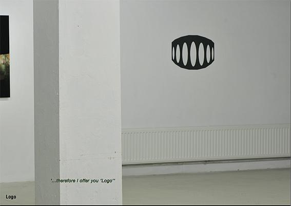 Logo | mural | Karin van Pinxteren | dark green wallpaint | 2008 | photo by Peter Cox