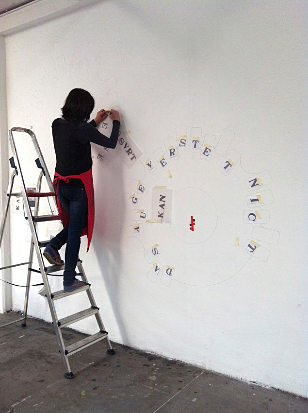 constructing the wall drawing | Karin van Pinxteren | De Fabriek Eindhoven