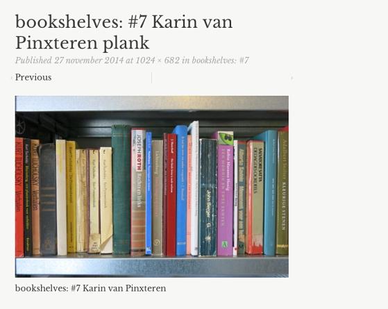bookshelves #7 | 271114