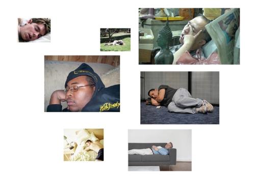 The Monument | Karin van Pinxteren | study | sleeping men
