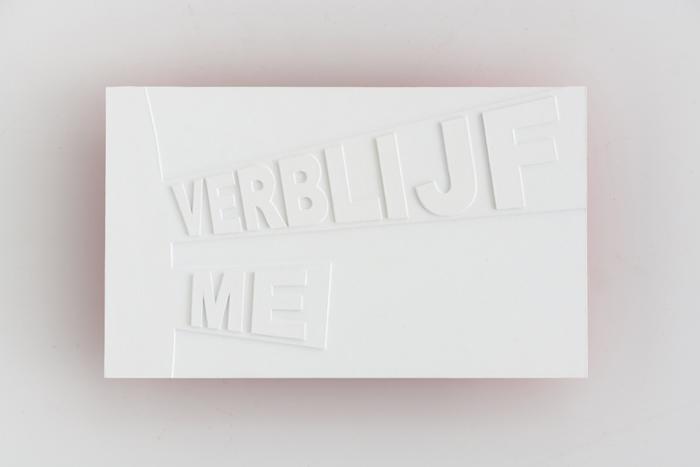 s and d Verblijf me | Karin van Pinxteren | 2017s