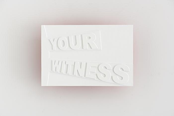 s and d Your Witness | Karin van Pinxteren | 2017s